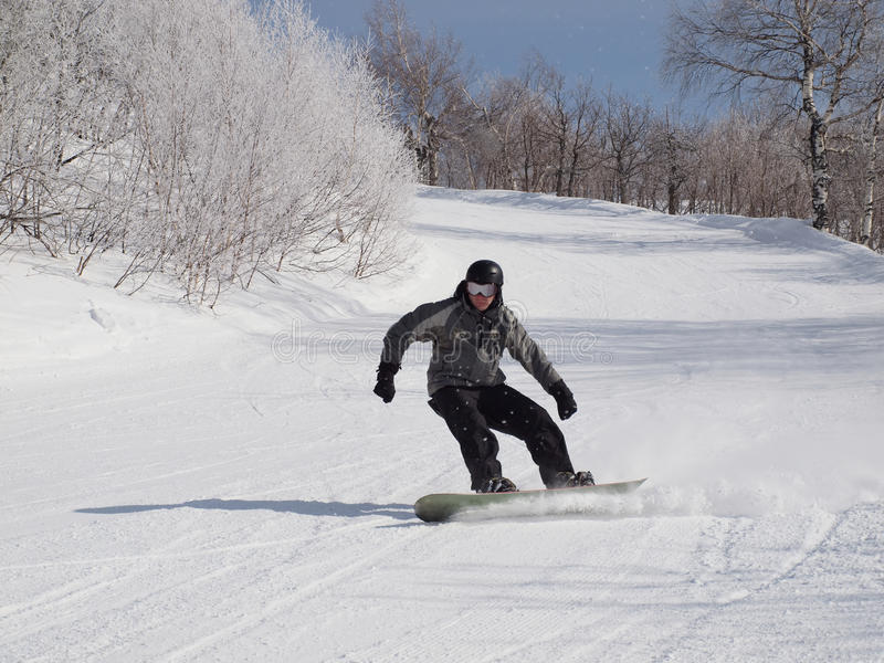 Snowboarder fotografía de archivo