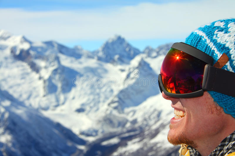 Snowboarder lizenzfreies stockbild