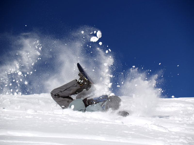 Download Snowboarder [2] stock photo. Image of crash, trace, rider - 530120