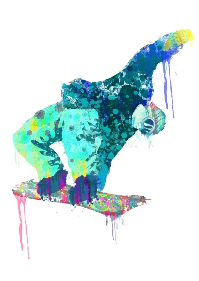 Snowboarder ilustração do vetor