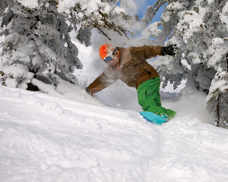 Download Snowboarder стоковое фото. изображение насчитывающей курорты - 40591060