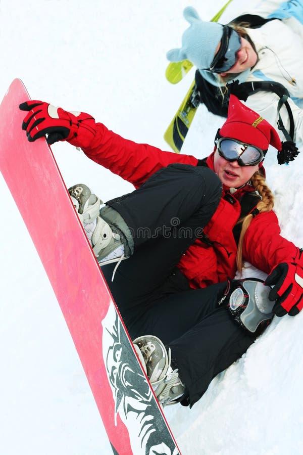 Snowboarder foto de stock