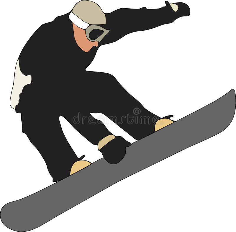 Download Snowboarder stock illustration. Image of freestyle, snow - 4551836