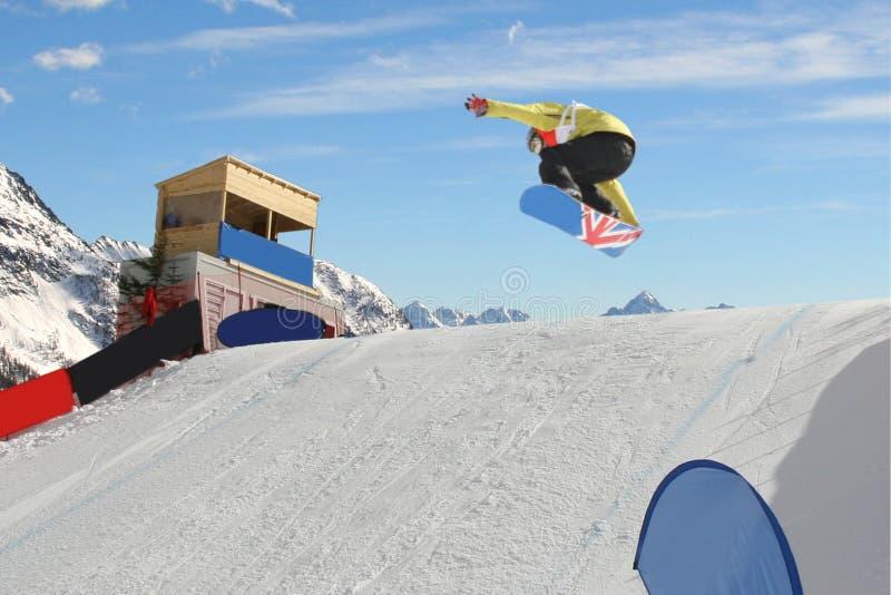 Snowboarder fotografia de stock royalty free