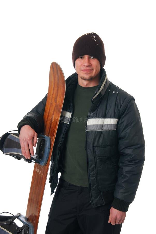 Snowboarder photographie stock