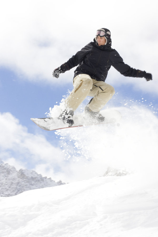 Snowboarder stockfoto
