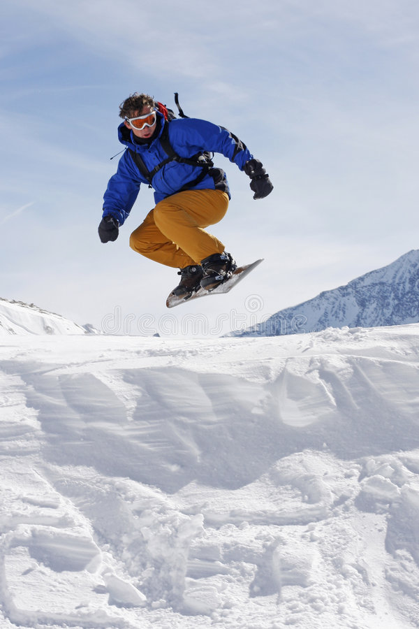 Snowboarder photographie stock