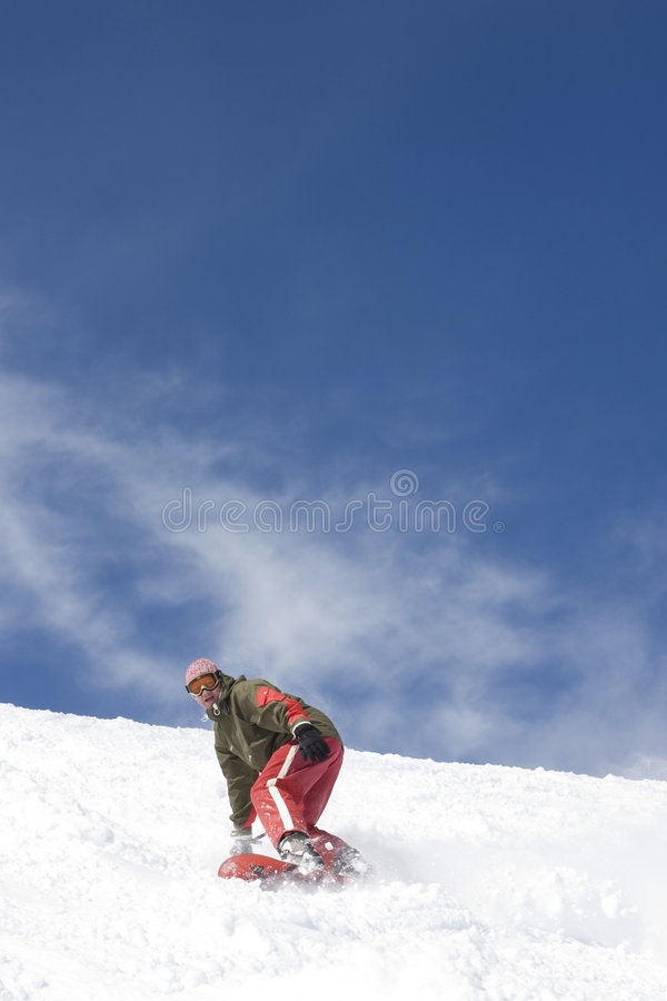 Snowboarder royalty free stock photography