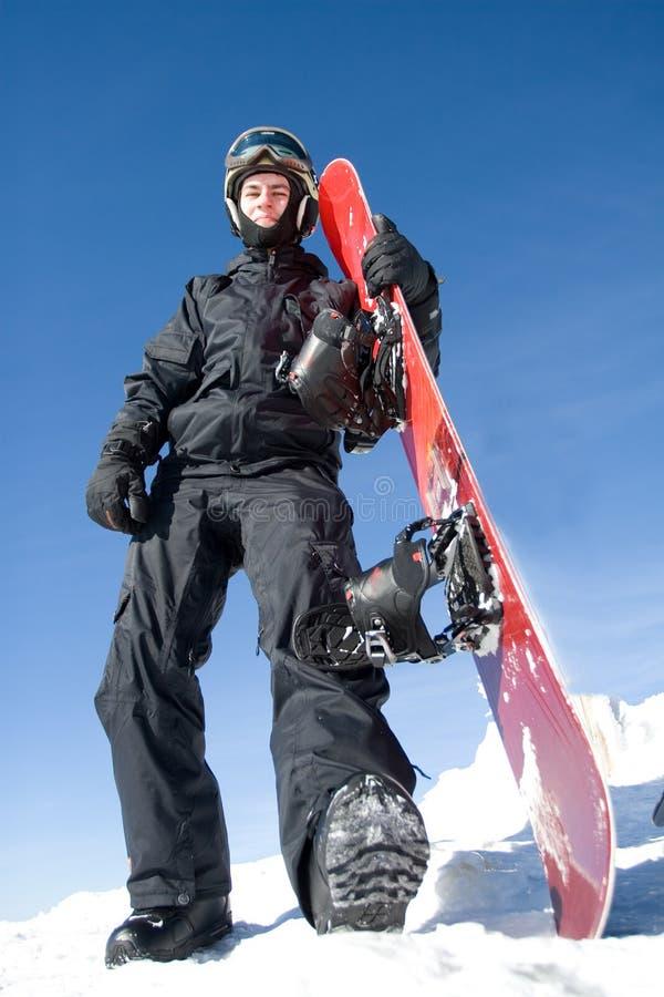 Snowboarder stock fotografie