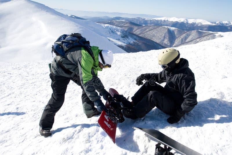 Snowboarder royalty-vrije stock foto's