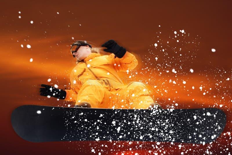 Snowboarder photo libre de droits