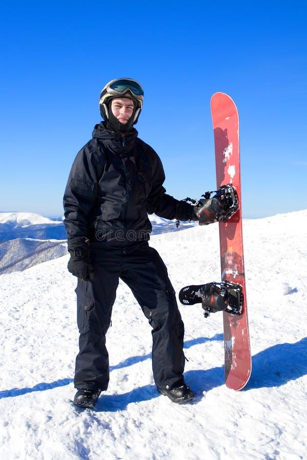 Snowboarder royalty-vrije stock afbeelding