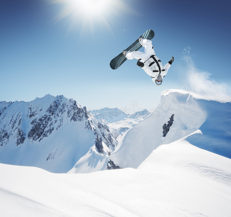 Snowboarder stockfotografie