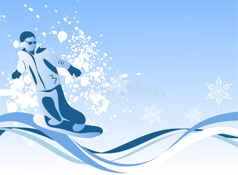 snowboarder illustration libre de droits