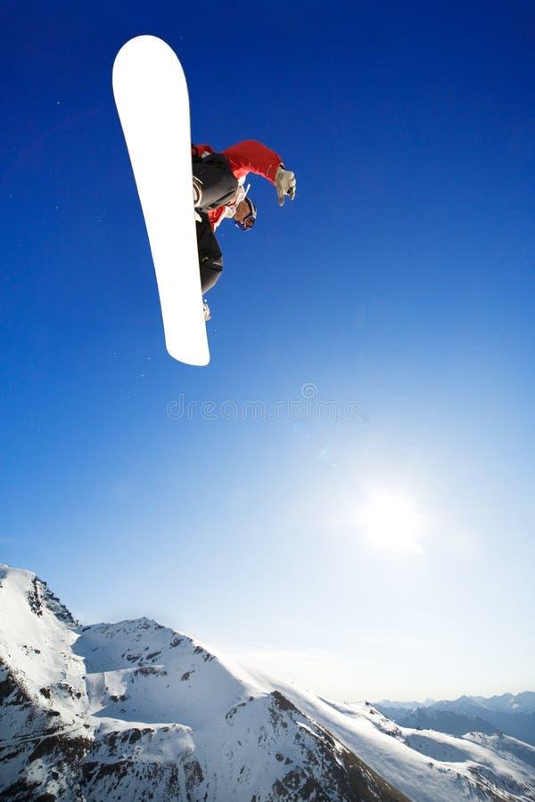 snowboarder fotografia stock