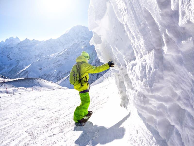 Snowboarder foto de archivo libre de regalías
