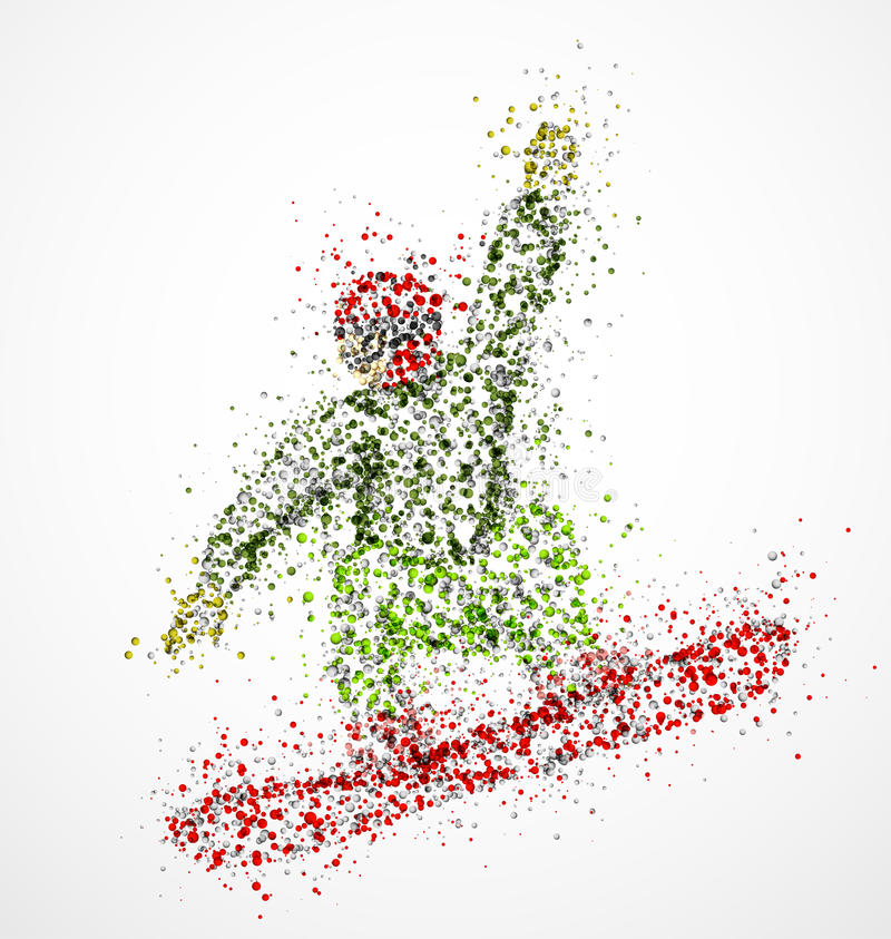 Snowboarder abstrato ilustração royalty free