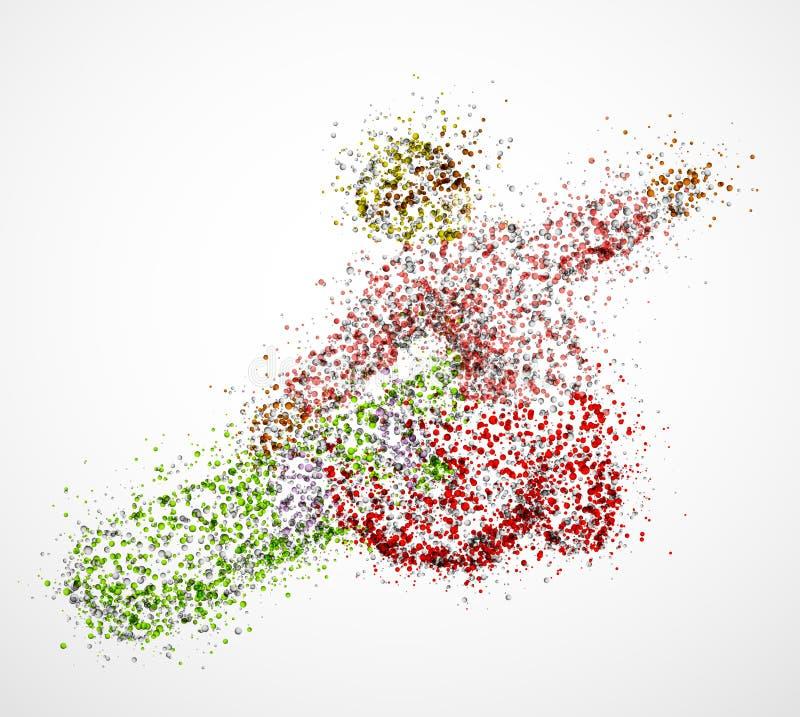 Snowboarder abstrato ilustração stock