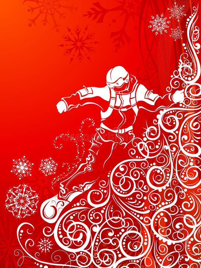 Snowboarder abstrato ilustração do vetor