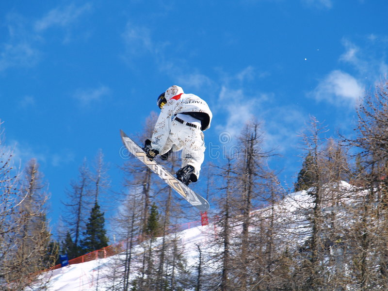 Download Snowboarder in the air editorial stock image. Image of sports - 4598399