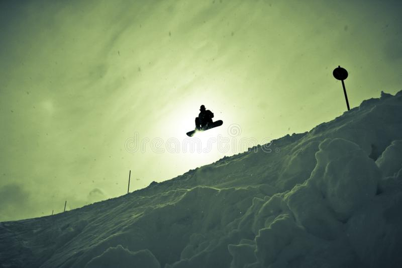 snowboarder air stock photo
