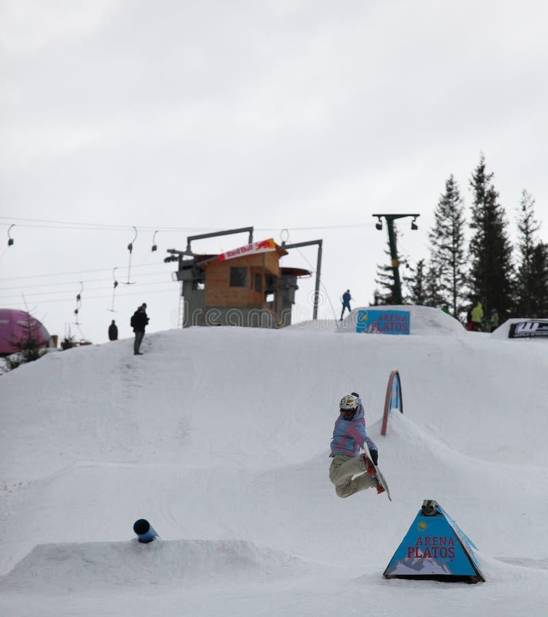 Download Snowboarder At Arena Platos Ski Slope Editorial Image - Image: 28997555
