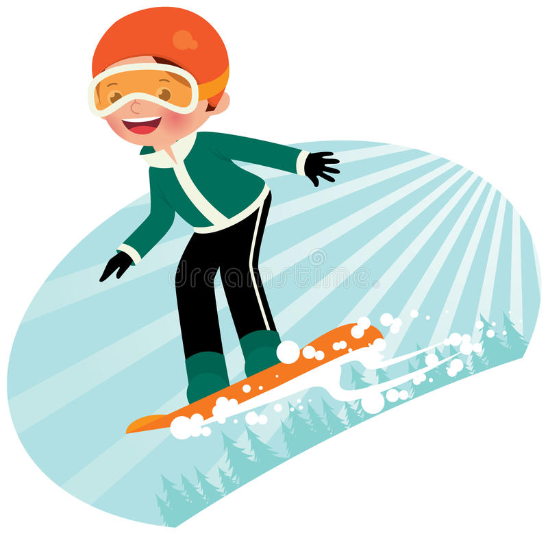 Snowboarder vector illustration
