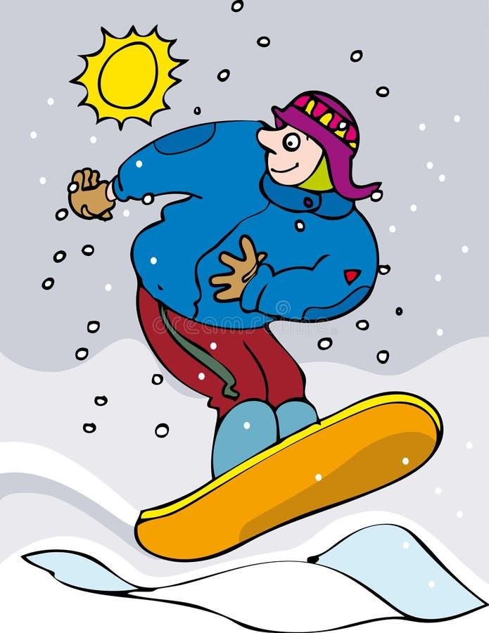 Snowboarder royalty free illustration