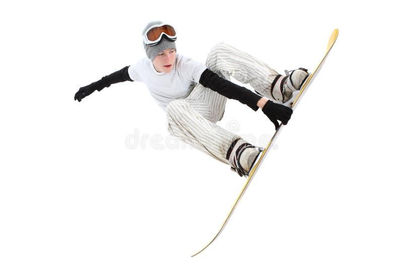 Snowboarder d'adolescent photographie stock libre de droits