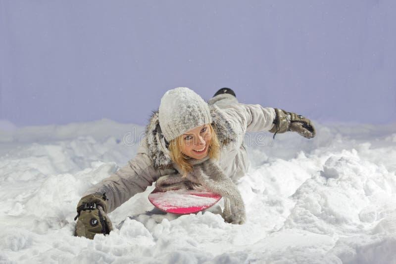 Snowboarder de flutuação fotografia de stock royalty free