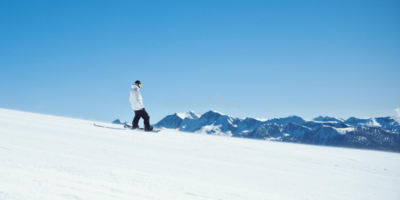 Snowboarder de Mammoth Mountain imagen de archivo libre de regalías