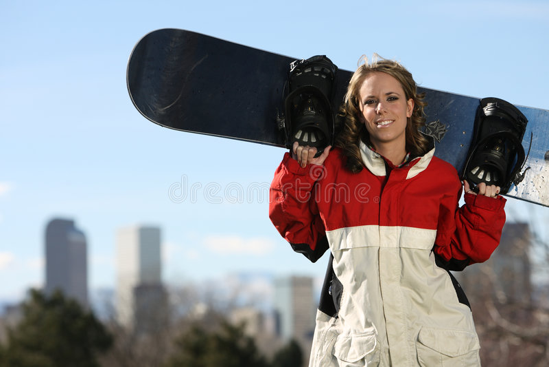 snowboarder denver стоковые фото