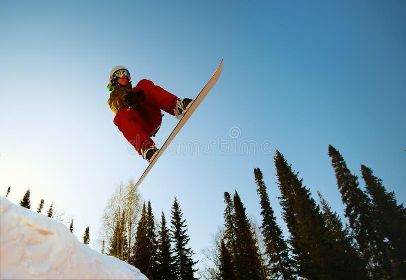 Snowboarder extremo fotografía de archivo