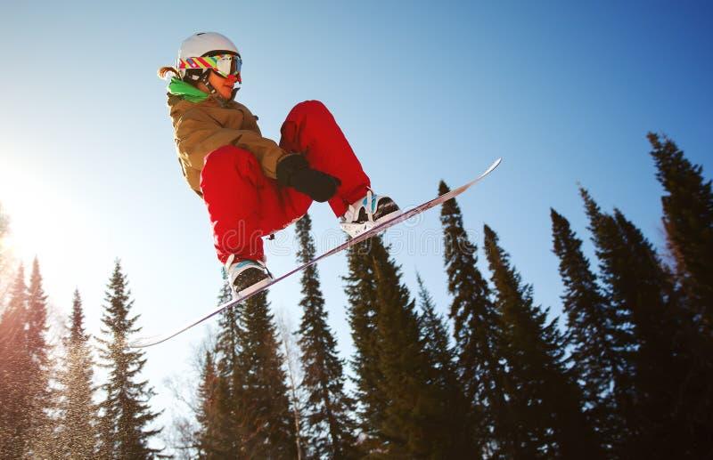 Snowboarder extremo imagenes de archivo