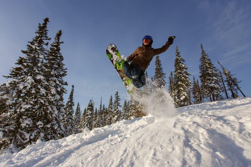 Snowboarder extremo imágenes de archivo libres de regalías