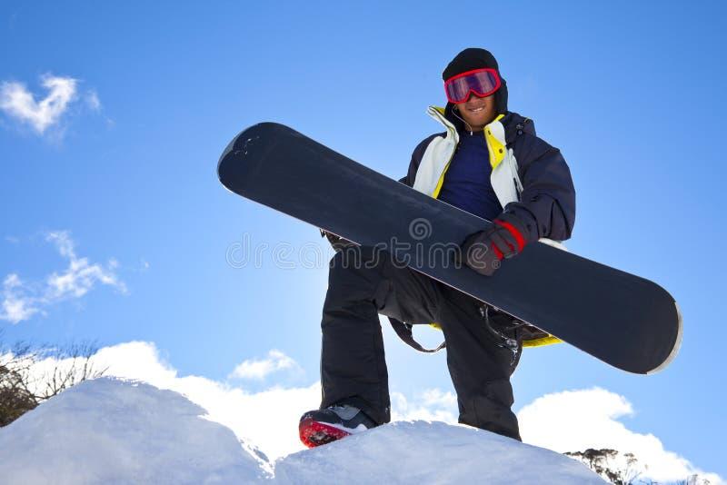 Snowboarder Guitar Hero stock photography