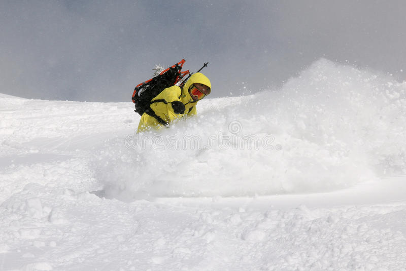 Download Snowboarder on the hill stock image. Image of recreation - 33584595