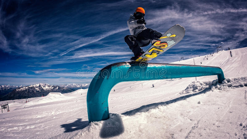 Snowboarder royalty free stock images