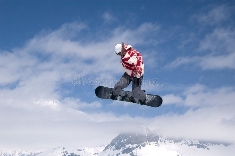 Download Snowboarder jumping stock photo. Image of france, jacket - 1060552