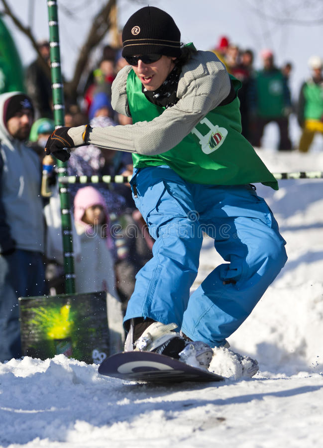 Download Snowboarder Jumping Editorial Stock Photo - Image: 18211438