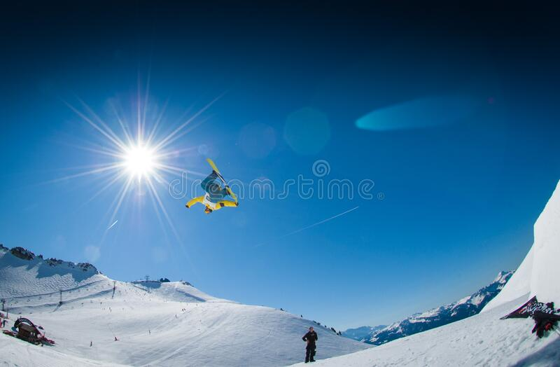 Snowboarder Jumping Free Public Domain Cc0 Image