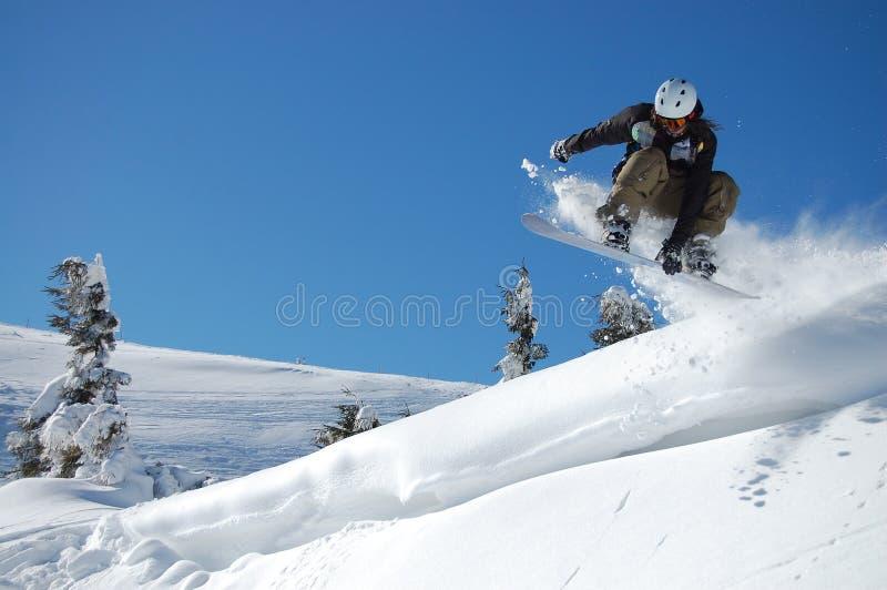 Snowboarding Jump royalty free stock image