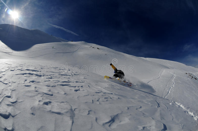 Download Snowboarder in motion stock photo. Image of field, skiers - 19131142