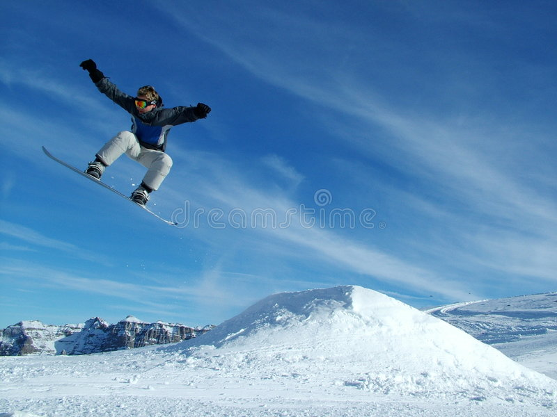 Download Snowboarder In The Mountains Stock Image - Image: 7148439