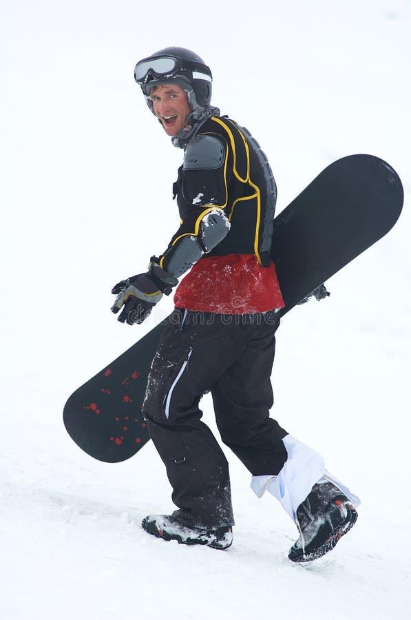 Download Snowboarder na defesa foto de stock. Imagem de divertimento - 543678