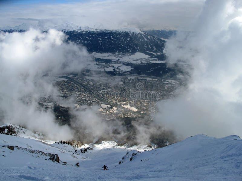 Snowboarder, Nordkatte fotografía de archivo libre de regalías