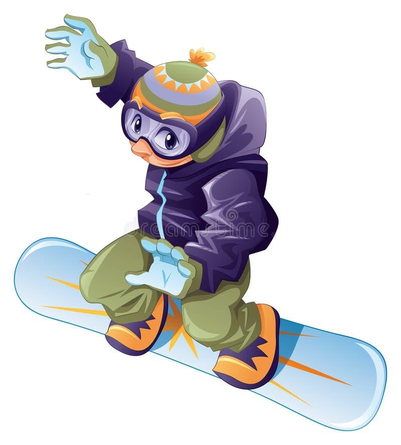 Snowboarder novo. ilustração stock