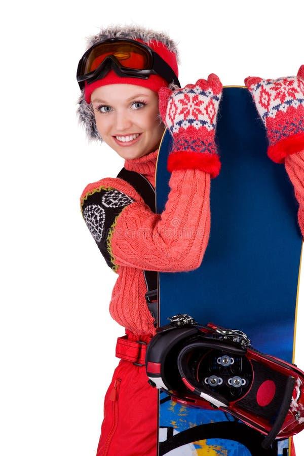 Snowboarder novo fotografia de stock