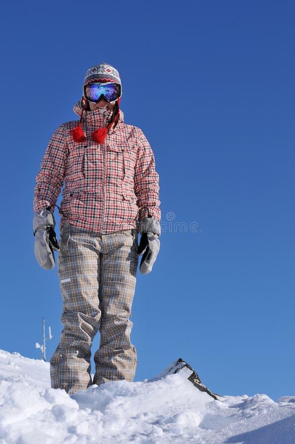 Snowboarder Resting Stock Photo