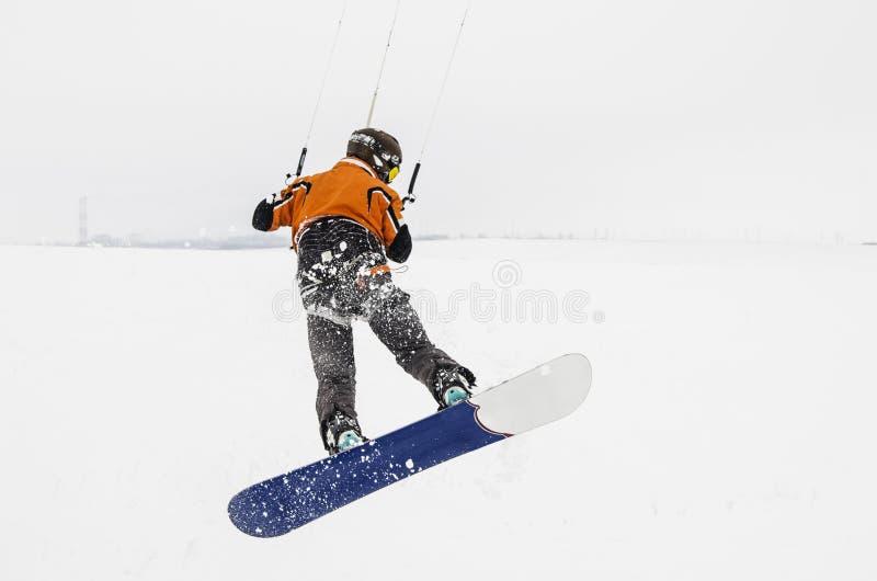 Snowboarder skateboard ψευτοπαλλικαράδων στοκ εικόνα
